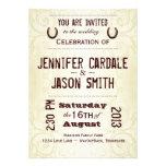 Country Western Horseshoe Wedding Invitations