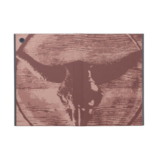 Country Western Longhorns Bull Skull Cowboy Gifts iPad Mini Cases