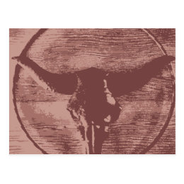 Country Western Longhorns Bull Skull Cowboy Gifts Postcard