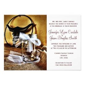 Country Western Mason Jar Wedding Invitations Invite