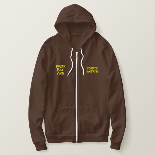 Country & Western Music Embroidered Hoodie