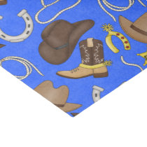 Country Western pattern tissue paper