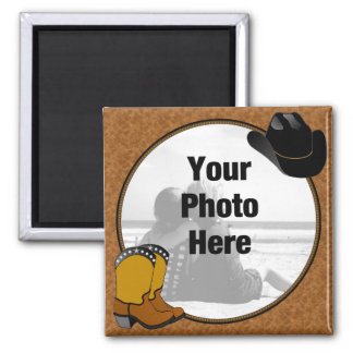 Country Western photo magnet