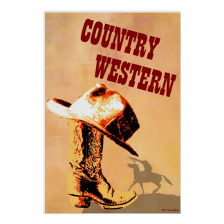 Country Western Print
