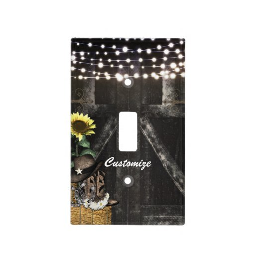 Country Western Rustic Barn Light Switch Cover