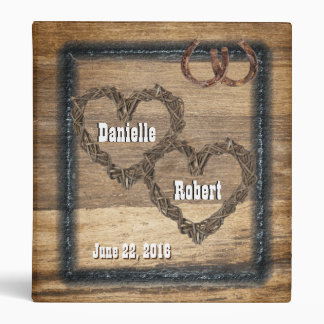 Country Western Rustic Horse Shoes Photo Album 3 Ring Binders