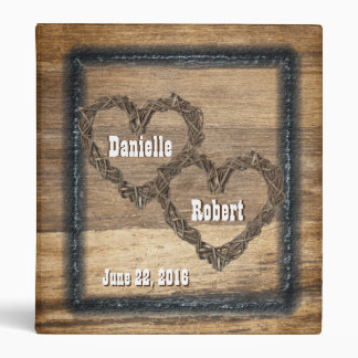 Country Western, Rustic Wedding, Photo Album 3 Ring Binder