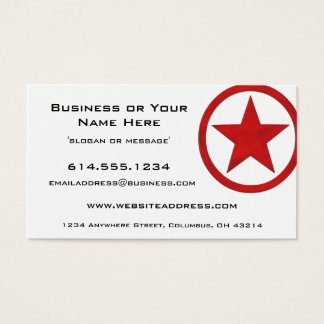 Country Western Star/Badge Red 3 Business Card