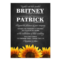 Country Western Sunflower Wedding Invitations 4.5&quot; X 6.25&quot; Invitation Card (<em>$1.95</em>)