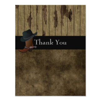 Country Western Thank You ,Wedding,Birthday Manly Card