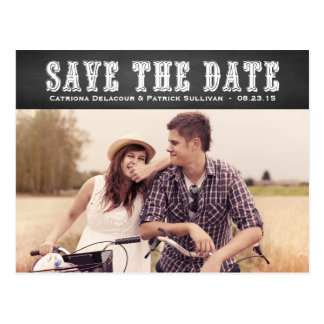 Country Western Typography Save the Date Postcard