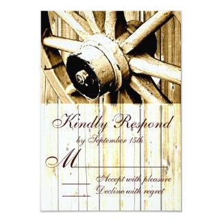 Country Western Wagon Wheel Wedding RSVP Cards