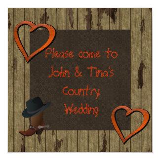 Country WESTERN WEDDING INVITATION