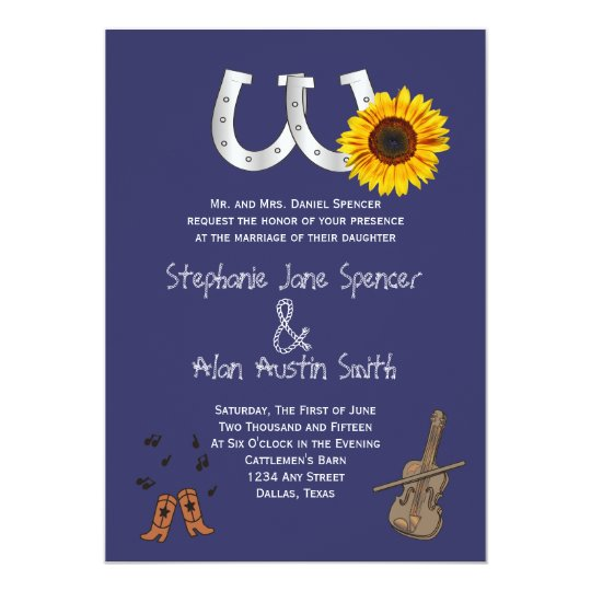 Country Western Wedding Invitation