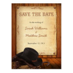 Country Western Wedding Save the Date Postcards