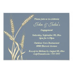 Country wheat engagement anniversary CUSTOM 5x7 Paper Invitation Card