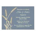 Country wheat engagement anniversary CUSTOM 5x7 Paper Invitation Card