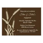 Country wheat engagement anniversary CUSTOM Invite