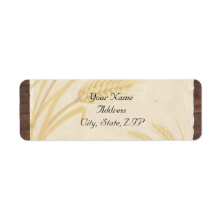 Country Wheat Grass on Parchment Label