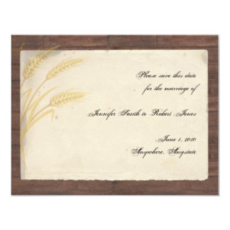 Country Wheat Grass on Parchment Save the Date Card