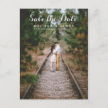 "Country Whimsical Wedding Photo Save The Date Announcement Postcard<br><div class=""desc"">The white whimsical script is nice for rustic country or modern wedding because it&#39;s charming and joyful. Add your engagement photo,  and with this Save The Date your guests will know your wedding will be pretty and fun.</div>"