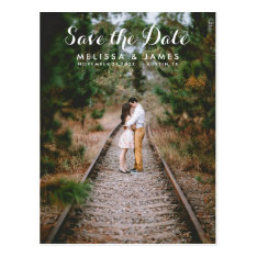 Country Whimsical Wedding Photo Save The Date Postcard at Zazzle