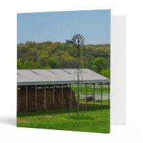 Country Windmill 3 Ring Binder