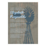 Country Windmill Bridal Shower Invitations Custom Announcements