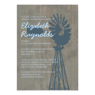 Country Windmill Bridal Shower Invitations
