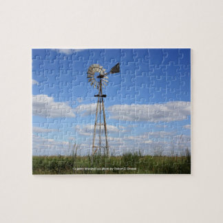 Country Windmill Jigsaw Puzzle