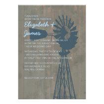 Country Windmill Wedding Invitations Custom Invitations