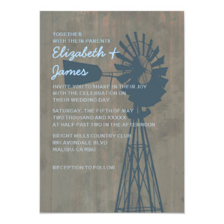 Country Windmill Wedding Invitations
