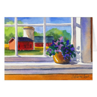 Country Window Note Card