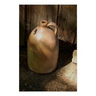 Country Wine Jug Poster