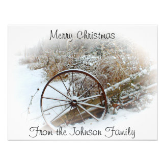 Country Winter Personalized Announcement