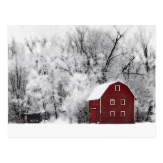 Country Winter Postcard