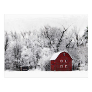 Country winter , postcard