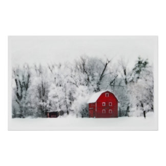 Country winter,poster poster