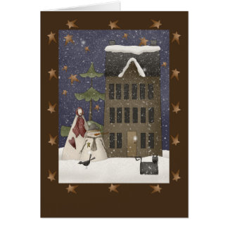 Country Winter Scene Greeting Card