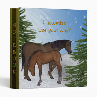 Country Winter Scene Mare & Colt Avery Binder
