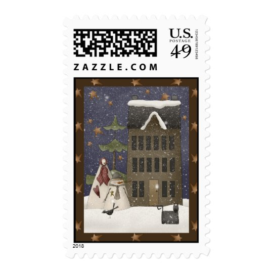 Country Winter Scene Postage