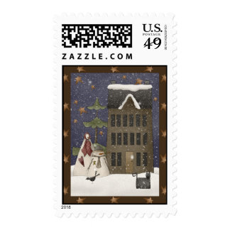 Country Winter Scene Stamps