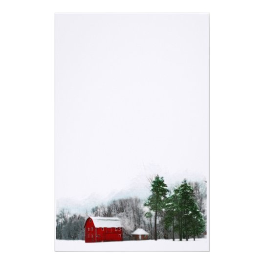 country winter stationary stationery zazzle com