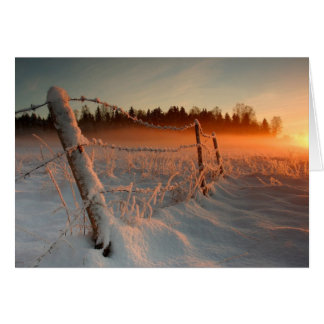 Country Winter Sunset Card