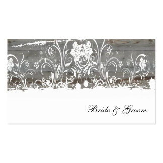 Country Wood Faded Place Cards
