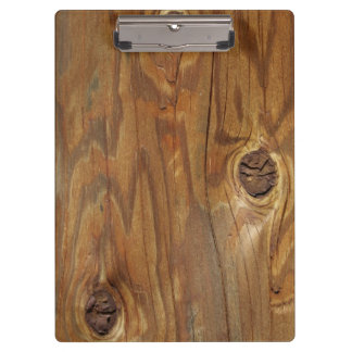 Country Wood (Faux) with Knotholes Clipboard