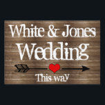 "Country Wood Lights Ball Jar Yard Sign<br><div class=""desc"">This yard sign a part of the Country Wood Lights Wedding Collection</div>"