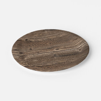 Country Wood Pattern 7 Inch Paper Plate