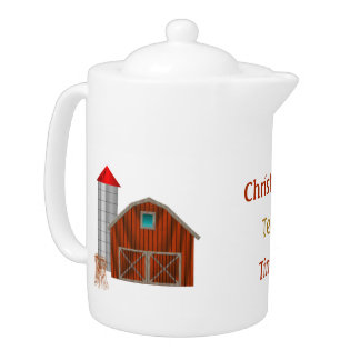 Country Yard Teapot