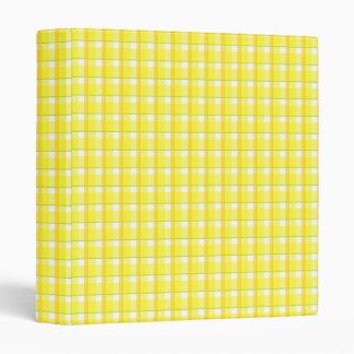 Country Yellow Check Pattern Avery Binder
